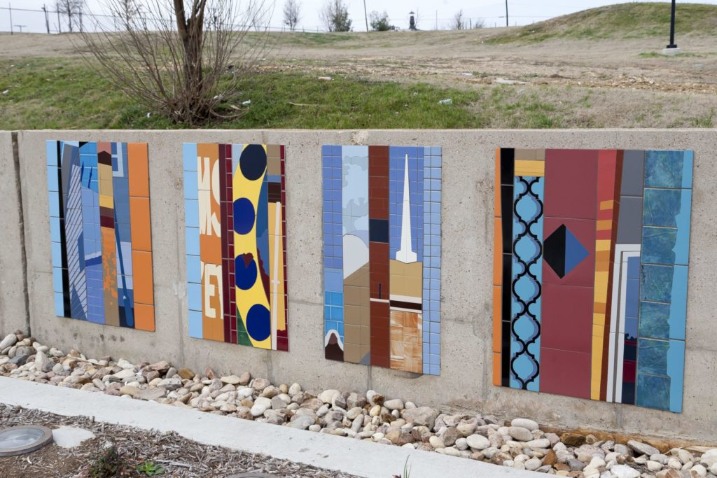 Whimsical Tile Street Art Murals Installed ENSO