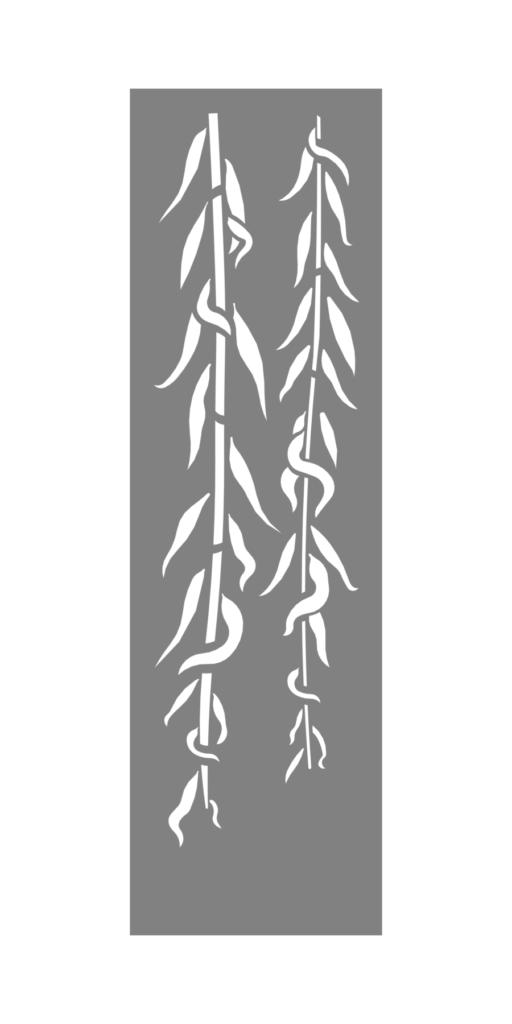 Decorative Creative Metal Screen Bamboo Tendrils ENSO