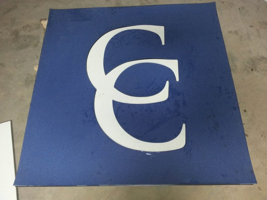 Custom Carpet Medallion Blue Interlocking Double C Logo ENSO