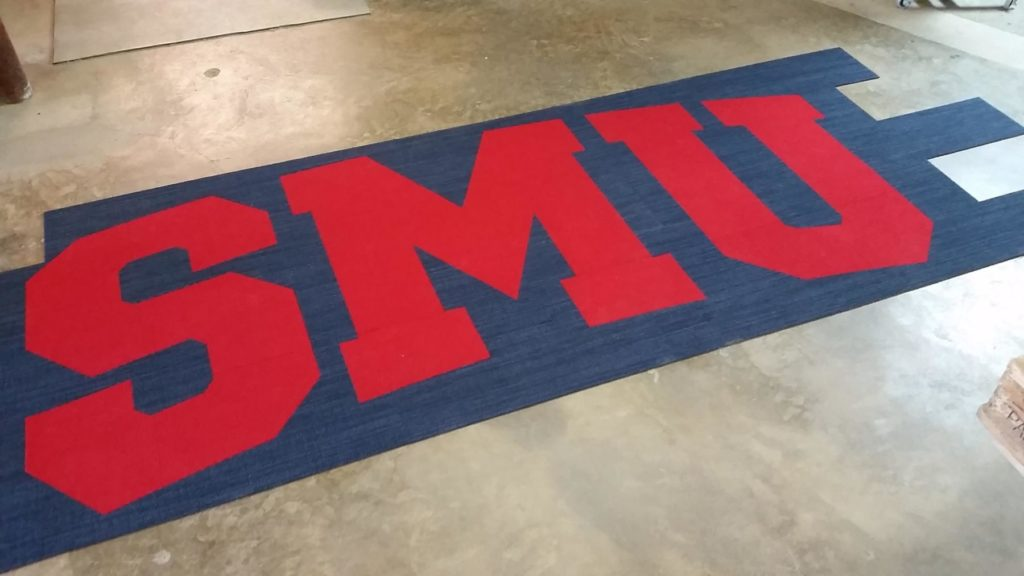Custom Carpet Red SMU Letters ENSO