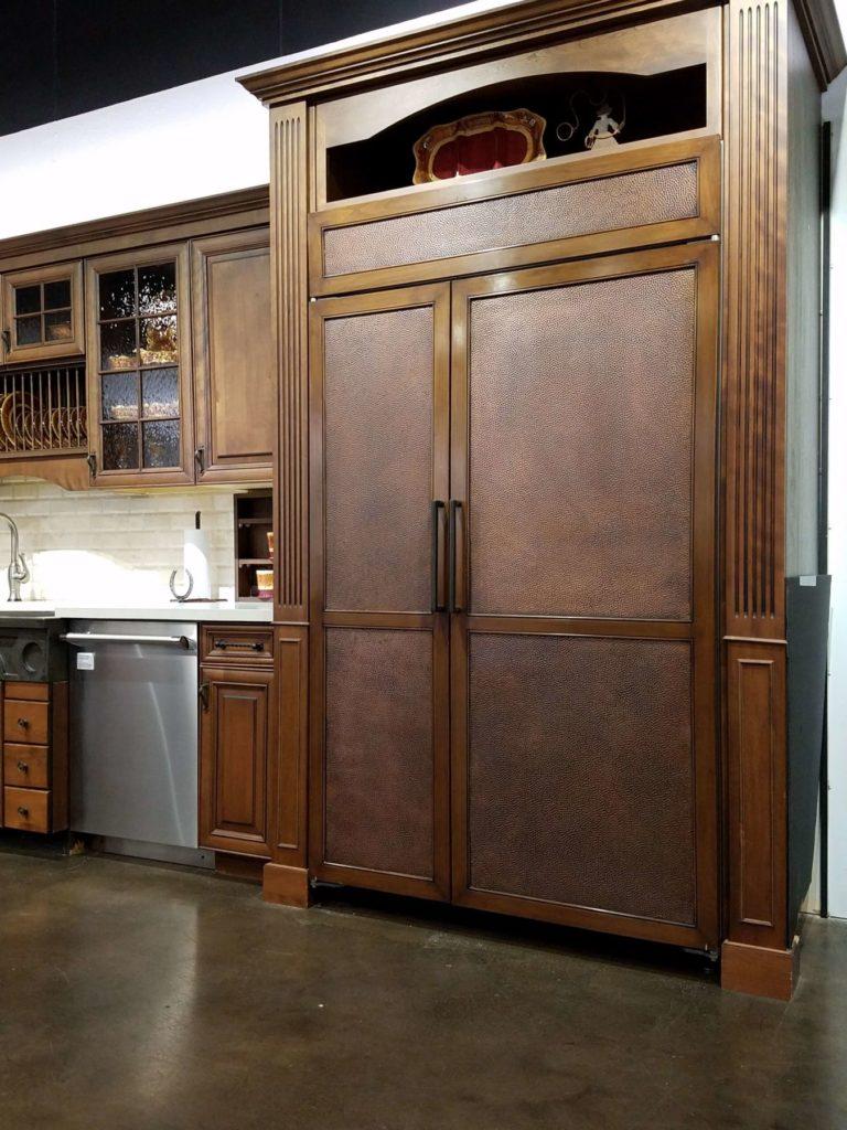 Custom Copper and Wood Sub Zero Doors 2 ENSO