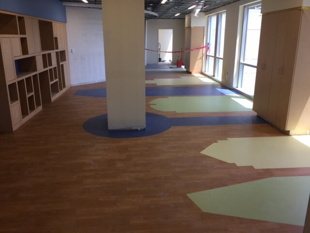 Custom Cut Flooring Dallas City Skyline Installation ENSO