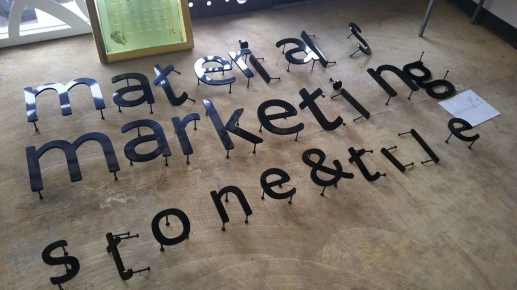 Custom Design Letters Materials Marketing Stone & Tile ENSO