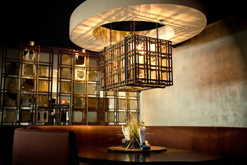 Custom Design Welded Light Fixture Malai Kitchen ENSO