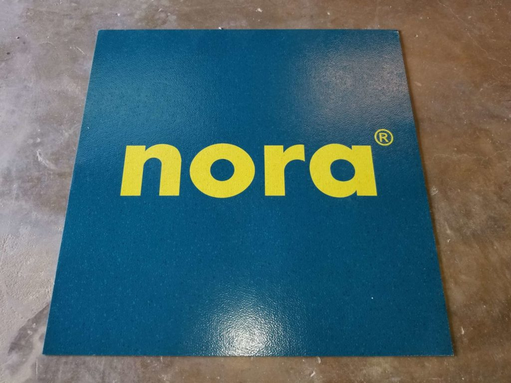 Custom LVT Blue and Yello nora Logo Trademark ENSO