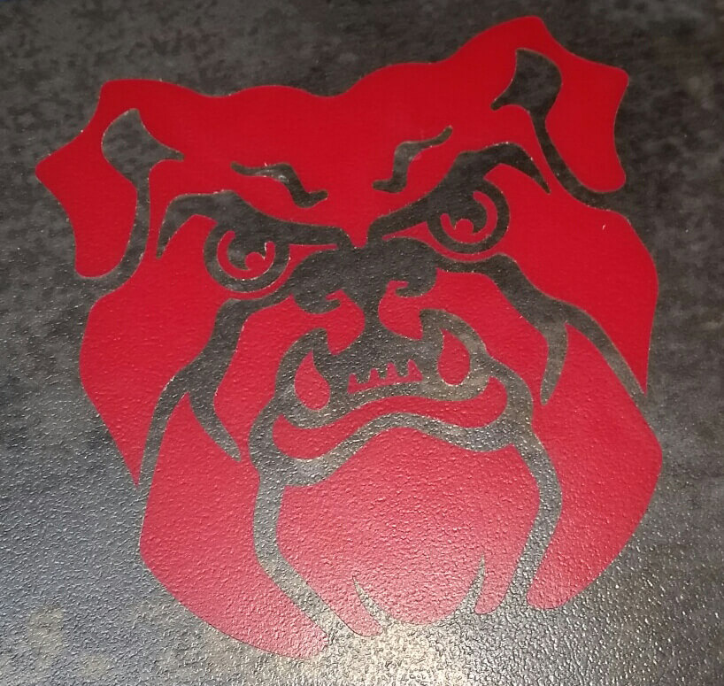 Custom LVT Red Fighting Bulldog Logo ENSO