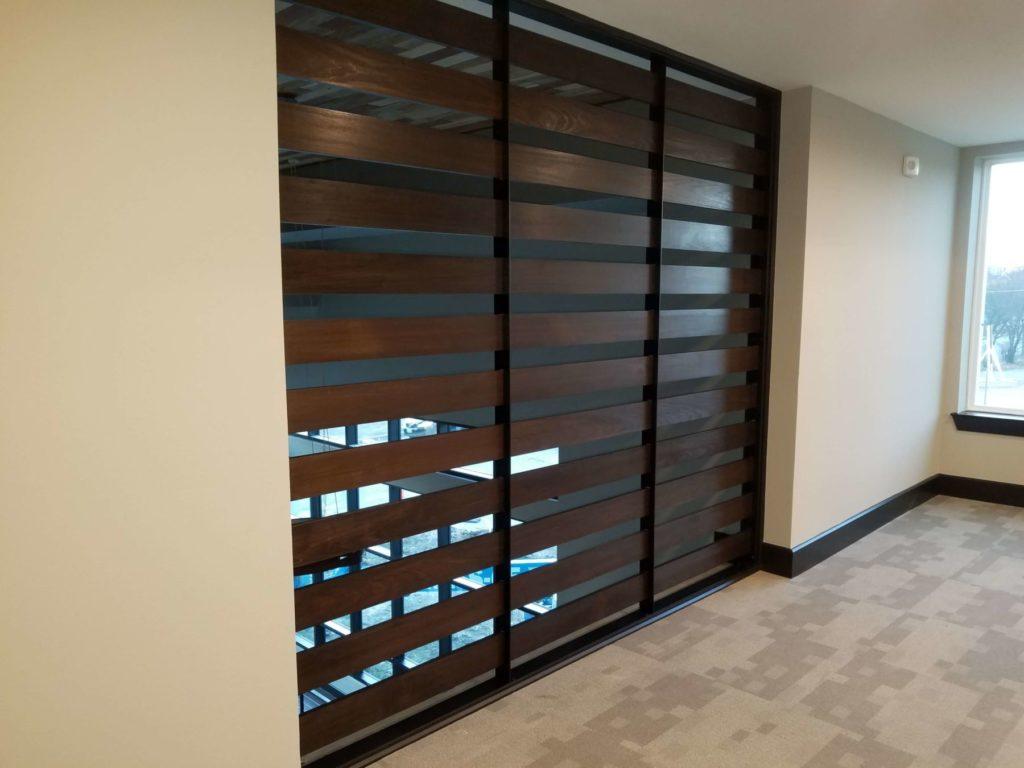Custom Metal and Wood Wall Divider 2 ENSO