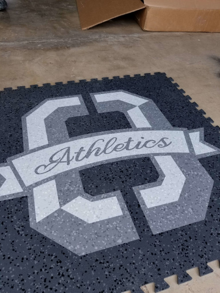 Custom Rubber Medallion Athletics Logo Fabrication ENSO