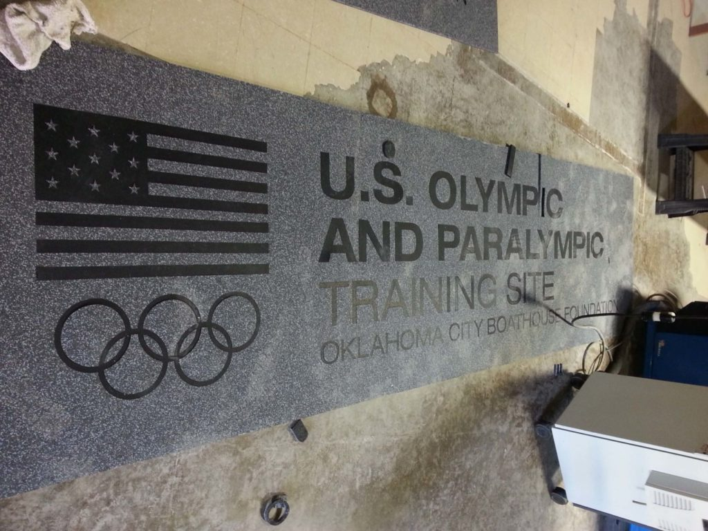 Custom Rubber US Olympic and Paralympic Training Site Logo ENSO