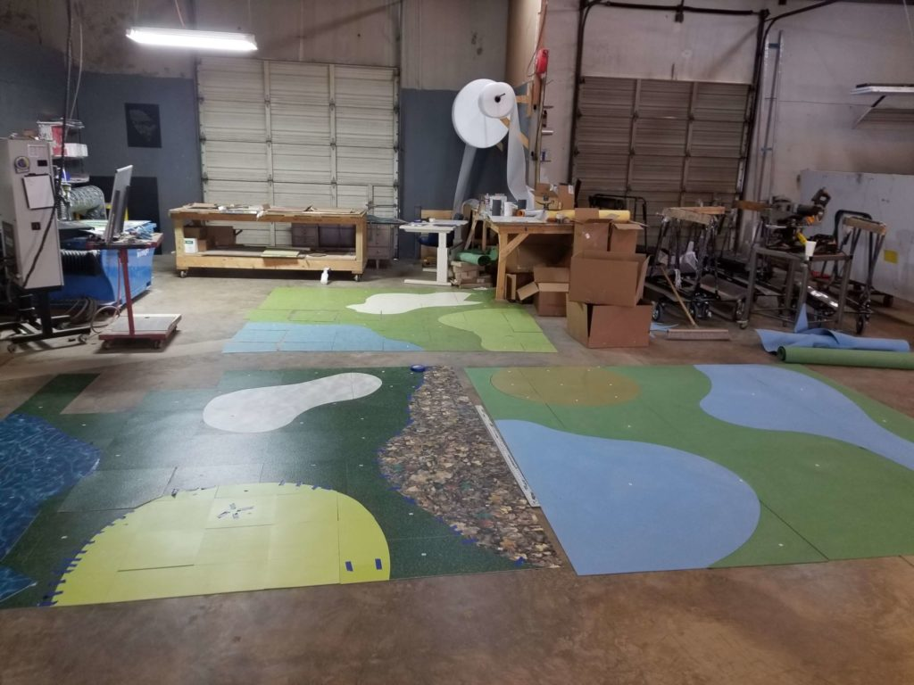Custom VCT and Carpet Inlay Golf Course Replica ENSO