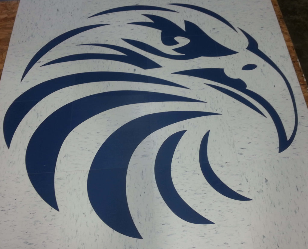 Custom VCT Blue and White Eagle Logo ENSO