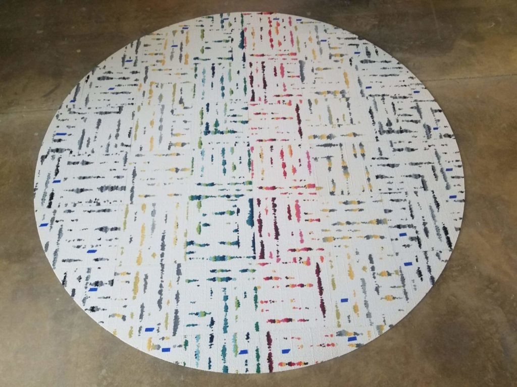 Custom VCT Colorful Circle of Tiles ENSO