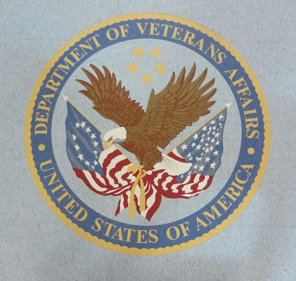 Custom VCT Floor Medallion Dept Veterans Affairs Seal ENSO