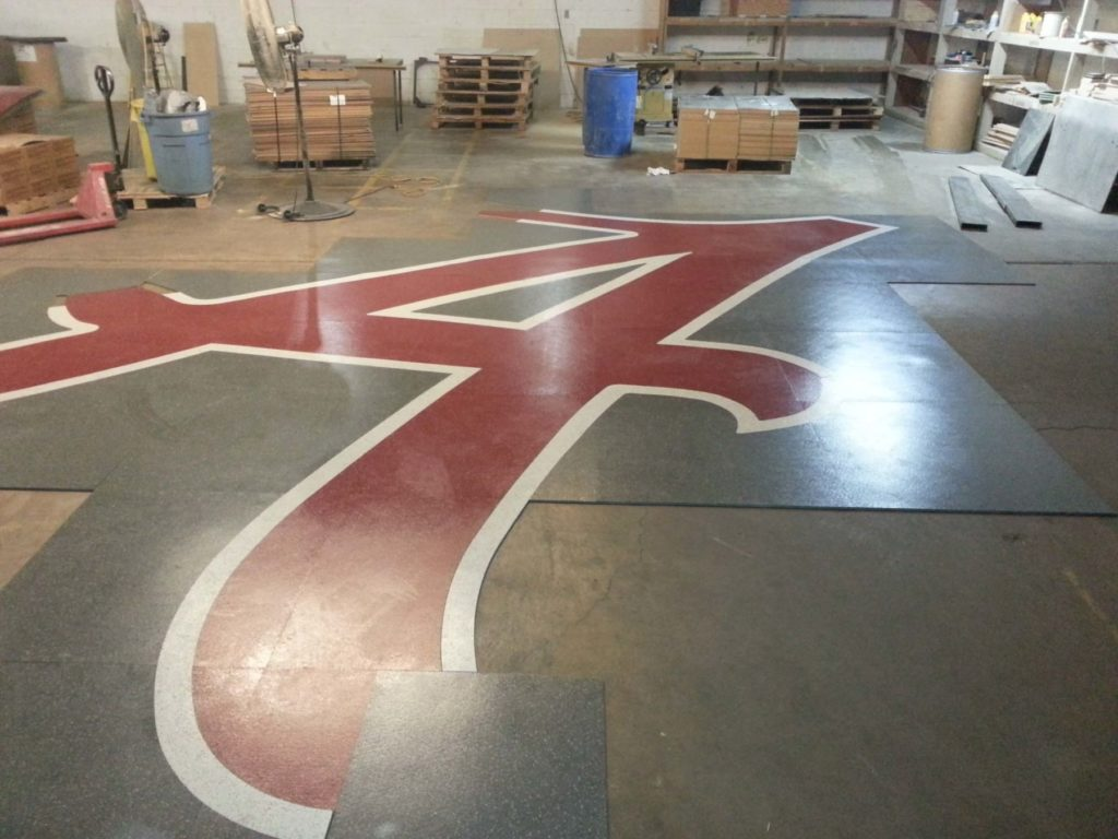 Custom VCT Flooring Alabama A Logo Fabrication ENSO