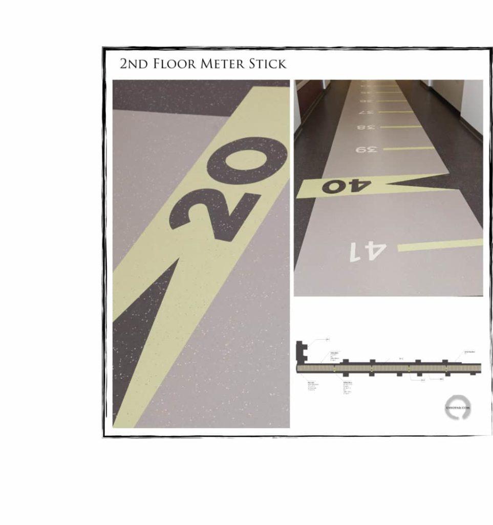 Custom VCT Flooring Hockaday 2nd Floor Meter Stick ENSO