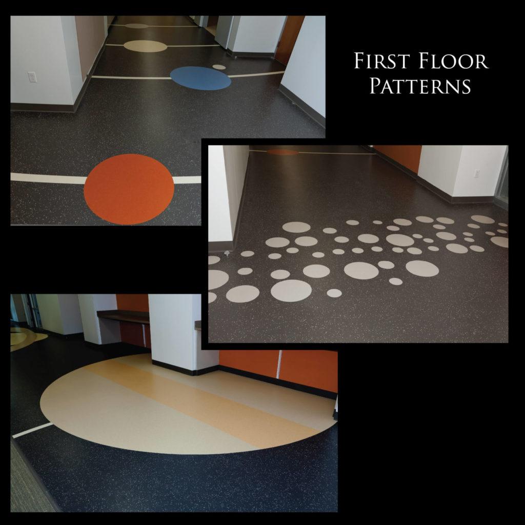 Custom VCT Flooring Hockaday First Floor Icons ENSO
