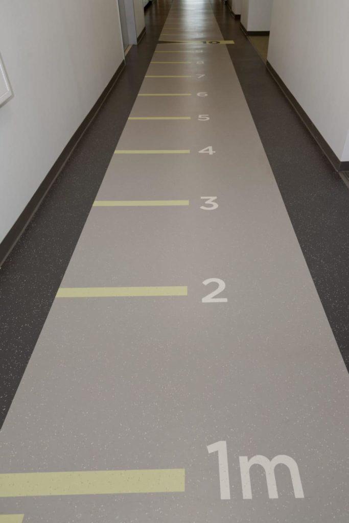 Custom VCT Flooring Hockaday Meter Ruler 2nd Floor Corridor ENSO