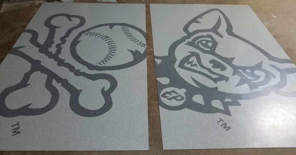 Custom VCT Medallion EP Bulldog Baseball Crossbones Logo ENSO