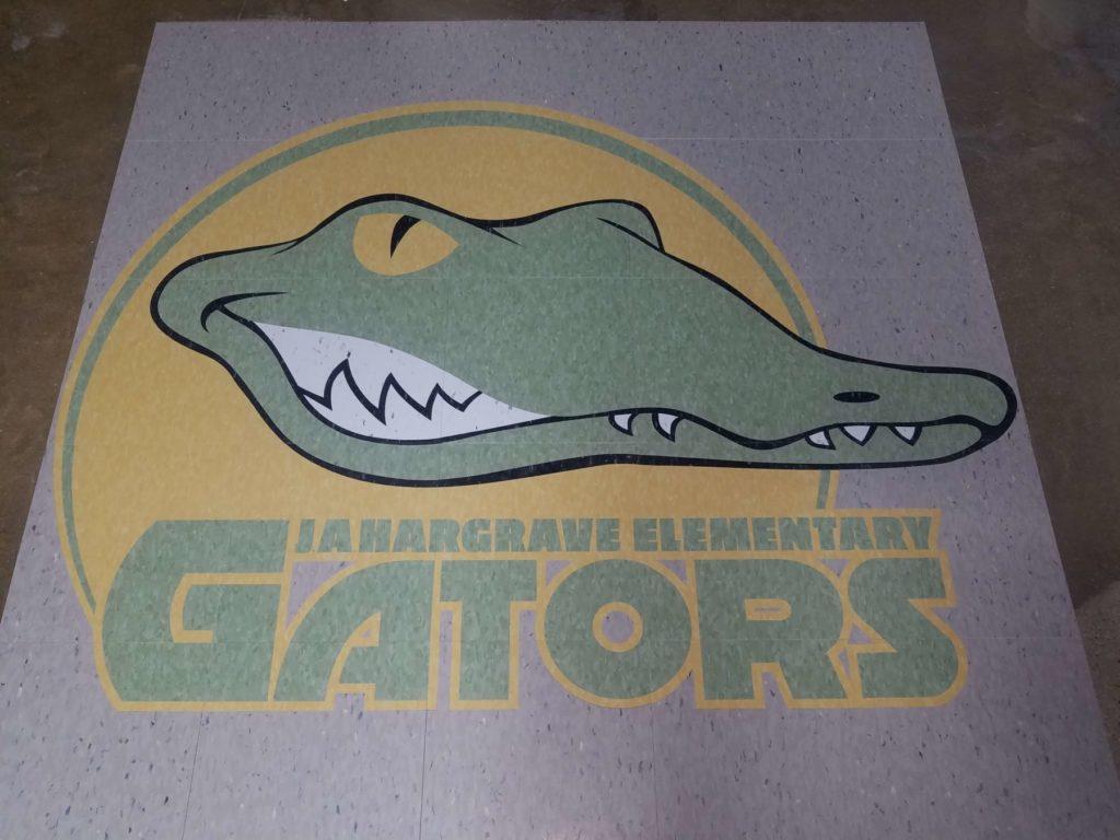Custom VCT Medallion JA Hargrave Elementary Gators Logo ENSO