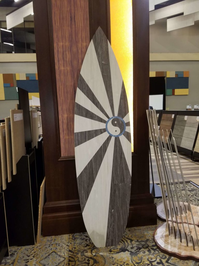 Custom Wood Flooring Rising Yin Yang Sun Surfboard ENSO