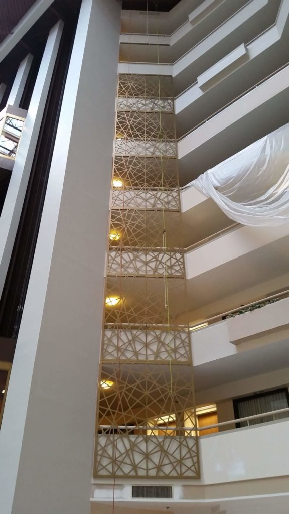 Decorative Metal Screen Atomic Design Hotel Lobby ENSO