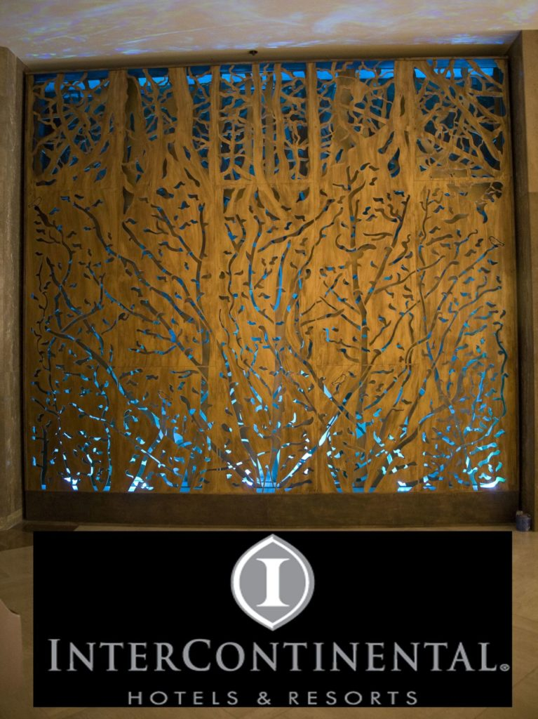 Decorative Metal Screen Forest Backlit Intercontinental Hotel ENSO