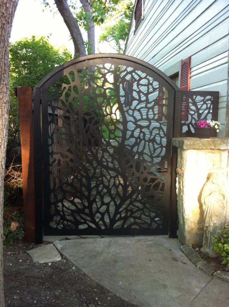 Custom Decorative Metal Gate Tivoli Design Installed ENSO
