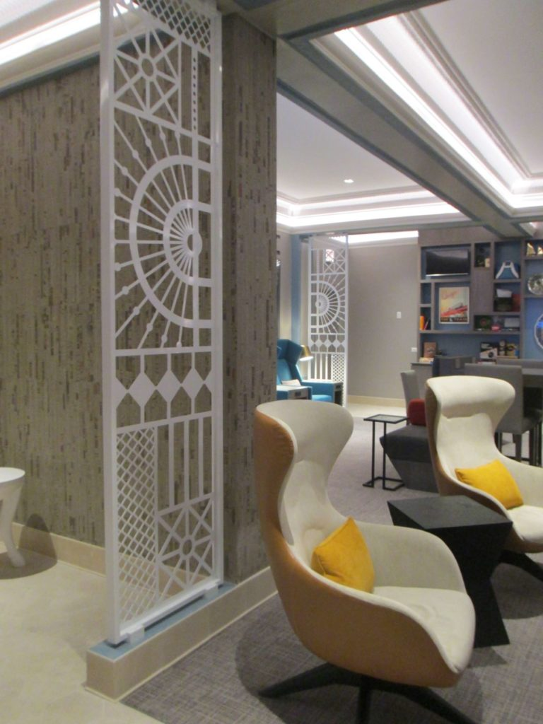 Decorative Metal Screen Hotel Versey Angled Lobby View ENSO