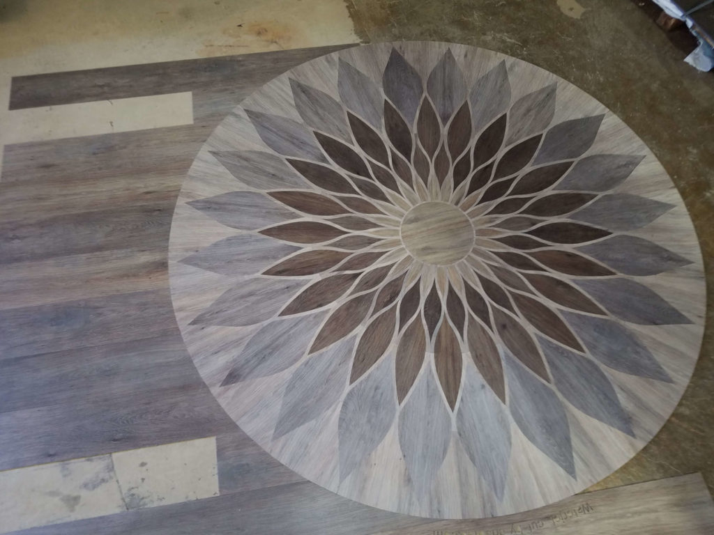 LVT Wood Flooring Geometric Flower Earthwerks Fabrication ENSO