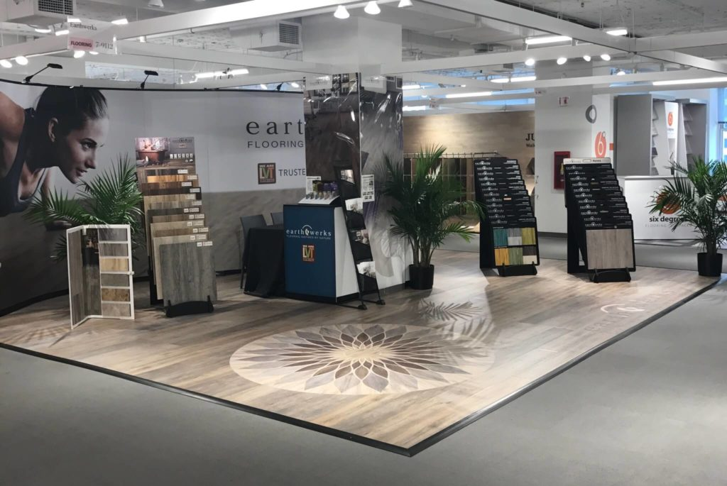 LVT Wood Flooring Geometric Flower Earthwerks Trade Show ENSO