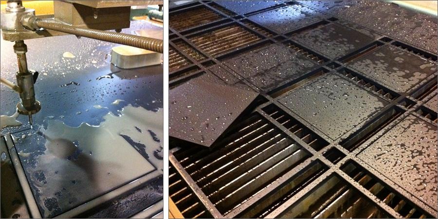 Malai Kitchen Light Fixture Waterjet Fabrication ENSO