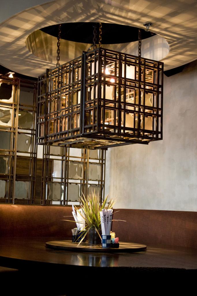 Malai Kitchen Light Fixture Restaurant Final Installation ENSO