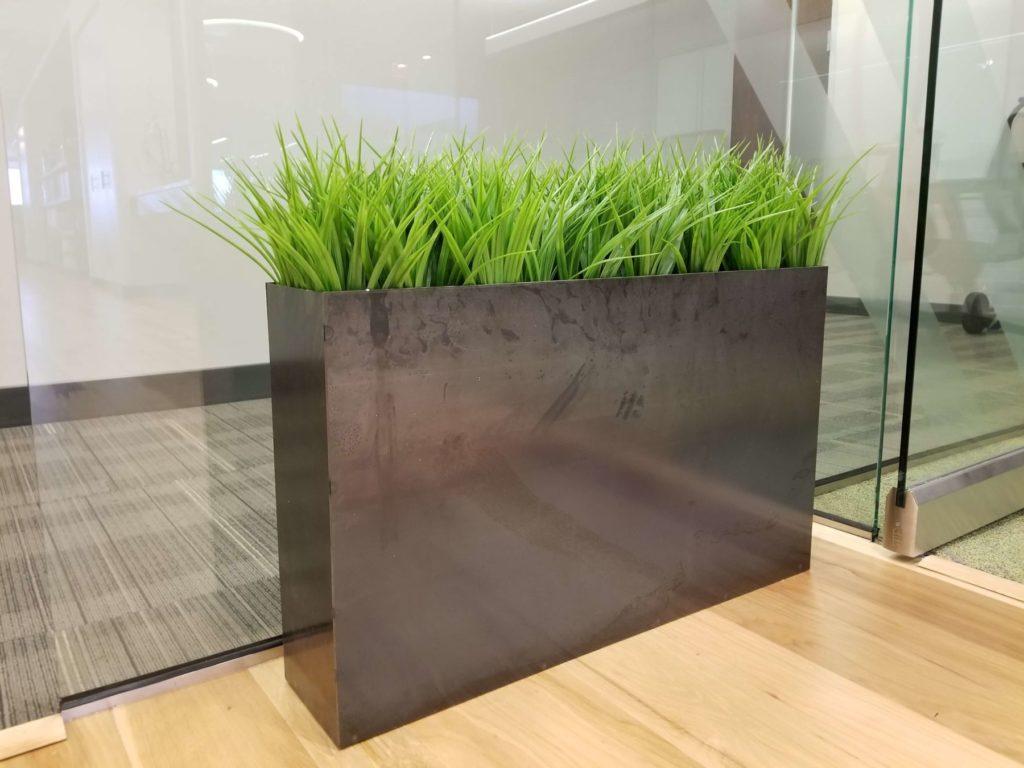 Custom Design Contemporary Metal Planter Door View ENSO