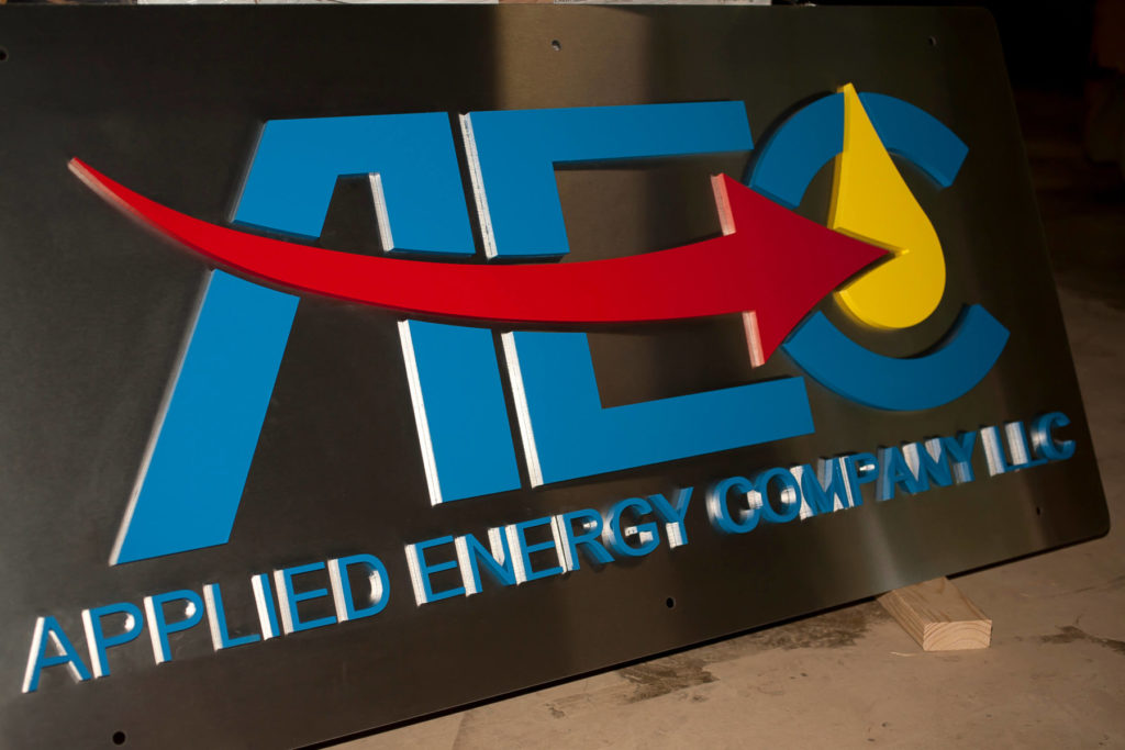 Custom Signage for Applied Energy Company ENSO