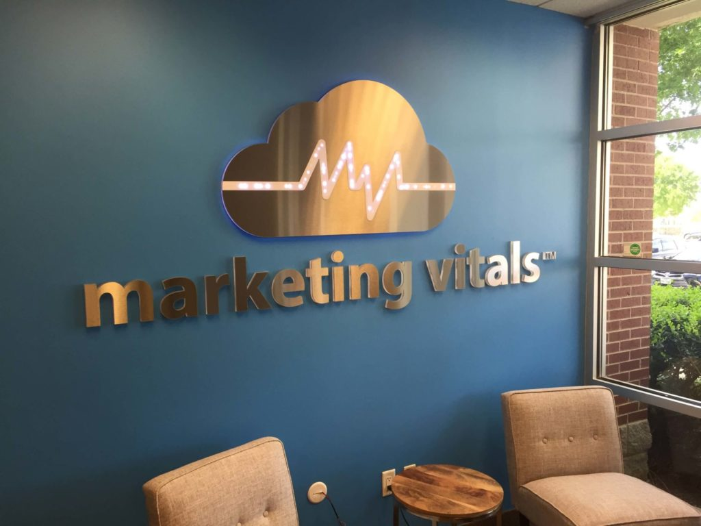 Custom Design Signage for Marketing Vitals ENSO