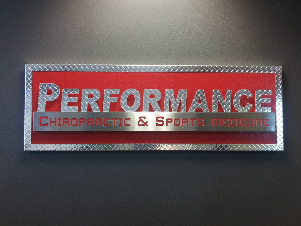 Custom Design Signage Performance Chiropractic ENSO