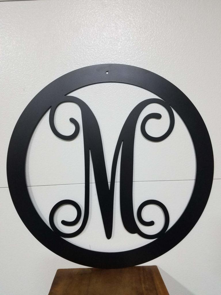 Custom Design Metal Script M Signage ENSO