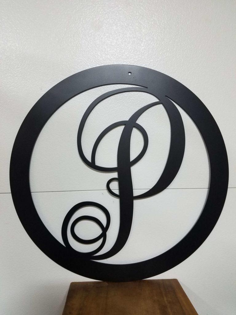 Custom Design Metal Script P Signage ENSO