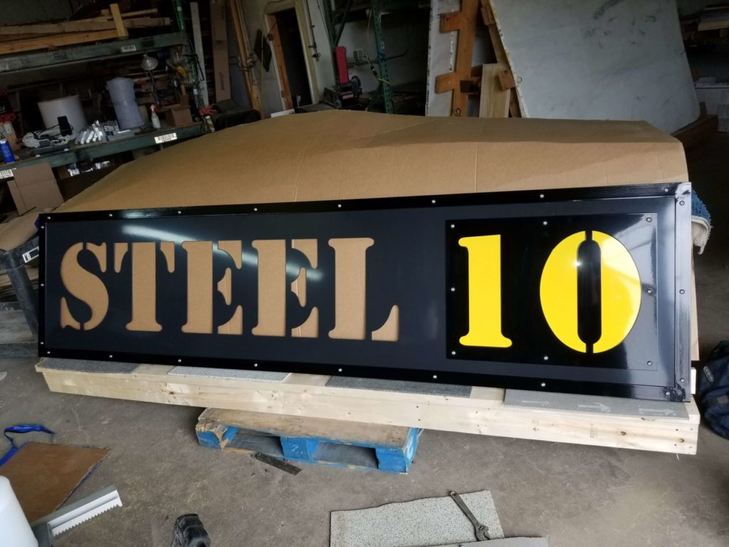 Custom Design Signage Steel 10 ENSO