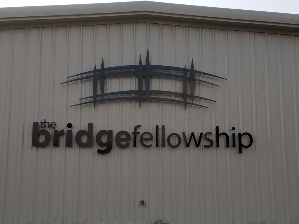Custom Design Metal Sign The Bridge Fellowship ENSO