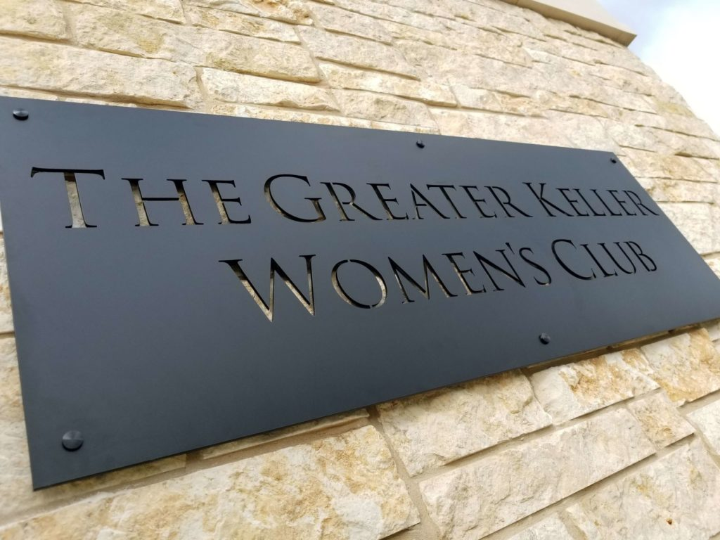 Custom Design Metal Powder Coat Sign The Greater Keller Women's Club ENSO