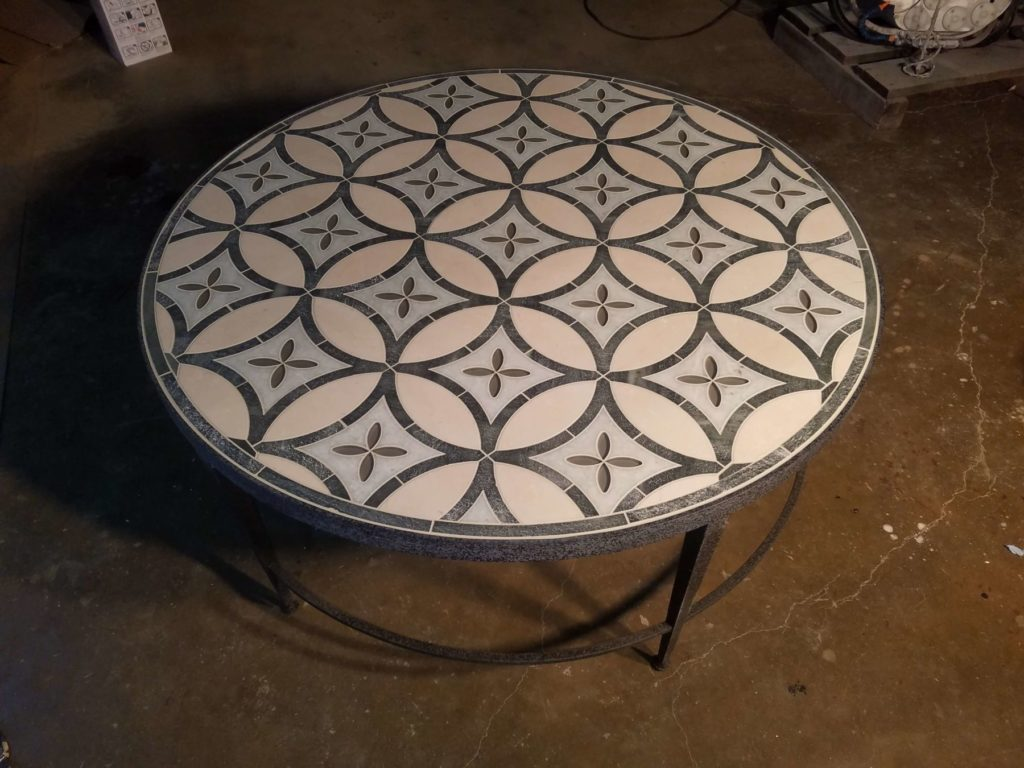 Stone Inlay Coffee Table Summer Starburst Design ENSO