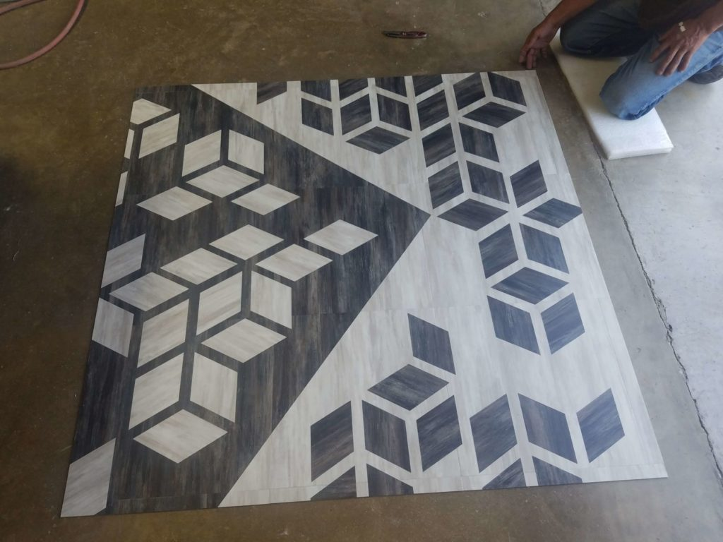 Custom Wood Flooring Cubiks Rube Design in Fabrication ENSO