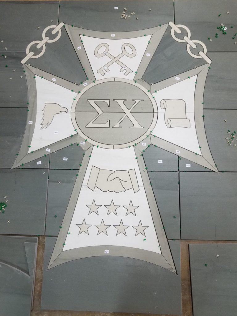 Stone Medallion Sigma Chi ENSO