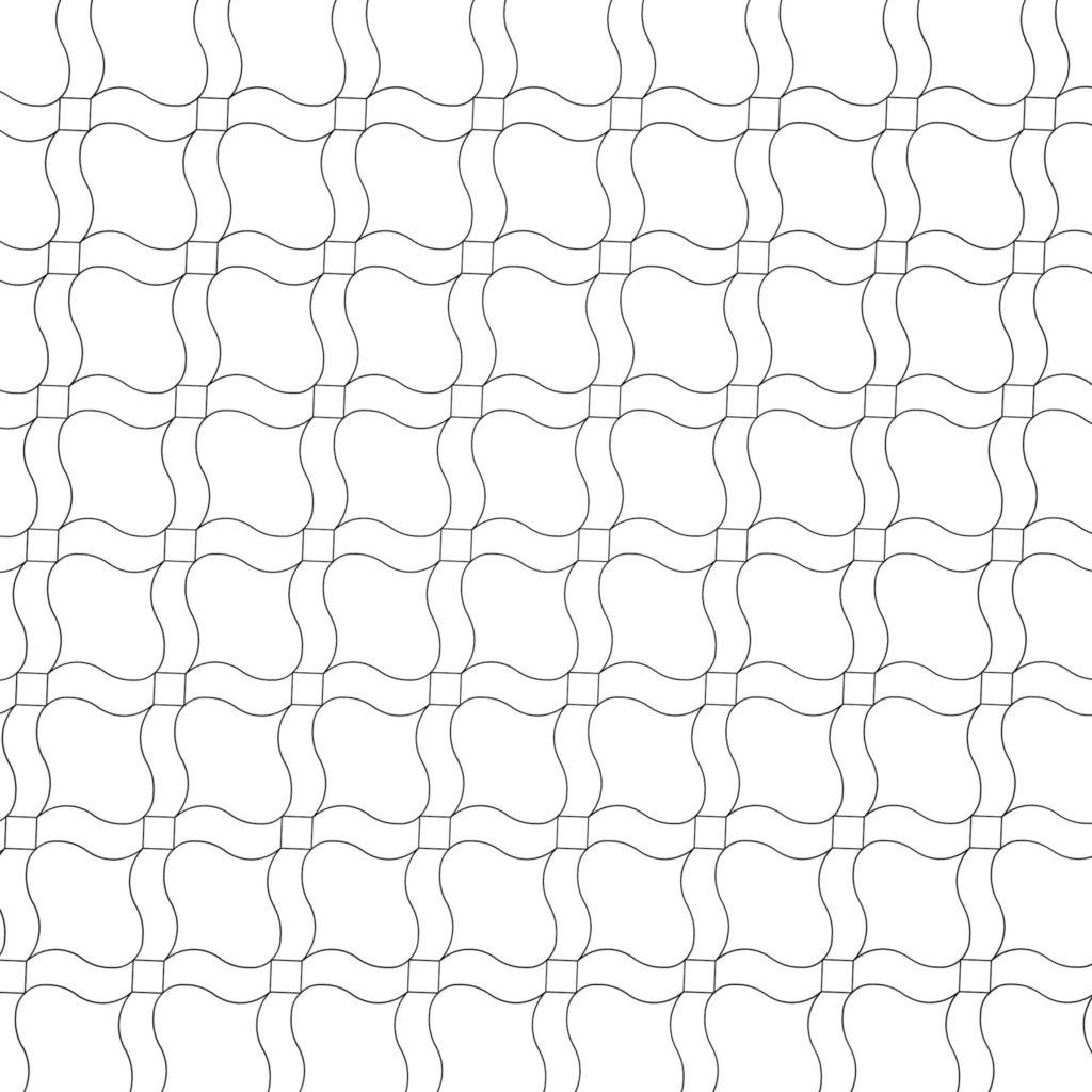 Creative Mosaic Tile Design Woven ENSO
