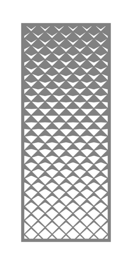 Decorative Metal Screen Design Apex Fade ENSO