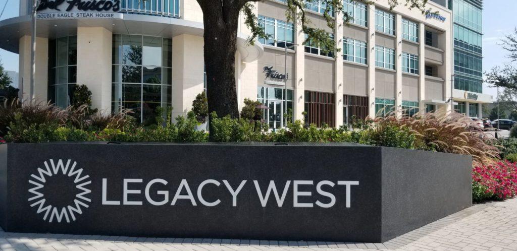 Legacy West Signage ENSO Granite Acrylic