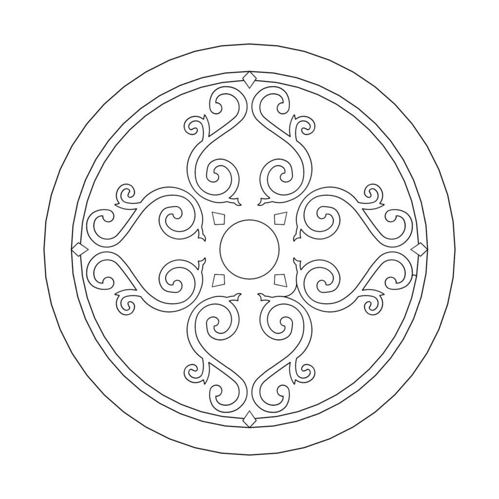 Stone Medallion Design Aodh ENSO