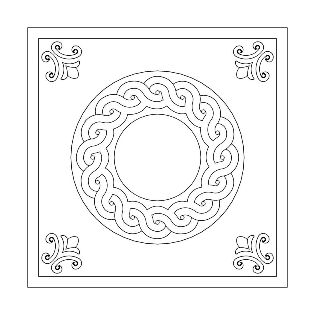 Stone Medallion Design Aspera Aquas ENSO