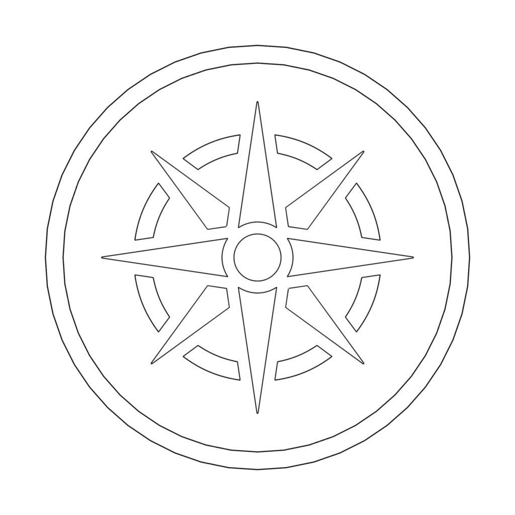 Stone Medallion Design Brujula ENSO